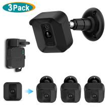 Blink XT2 Camera Mount, Caremoo 3 Pack Weather Proof Protective Cover/Mount with Blink Sync Module Outlet Mount for Blink XT2/ Blink XT Outdoor/Indoor Home Security Camera System (Black)