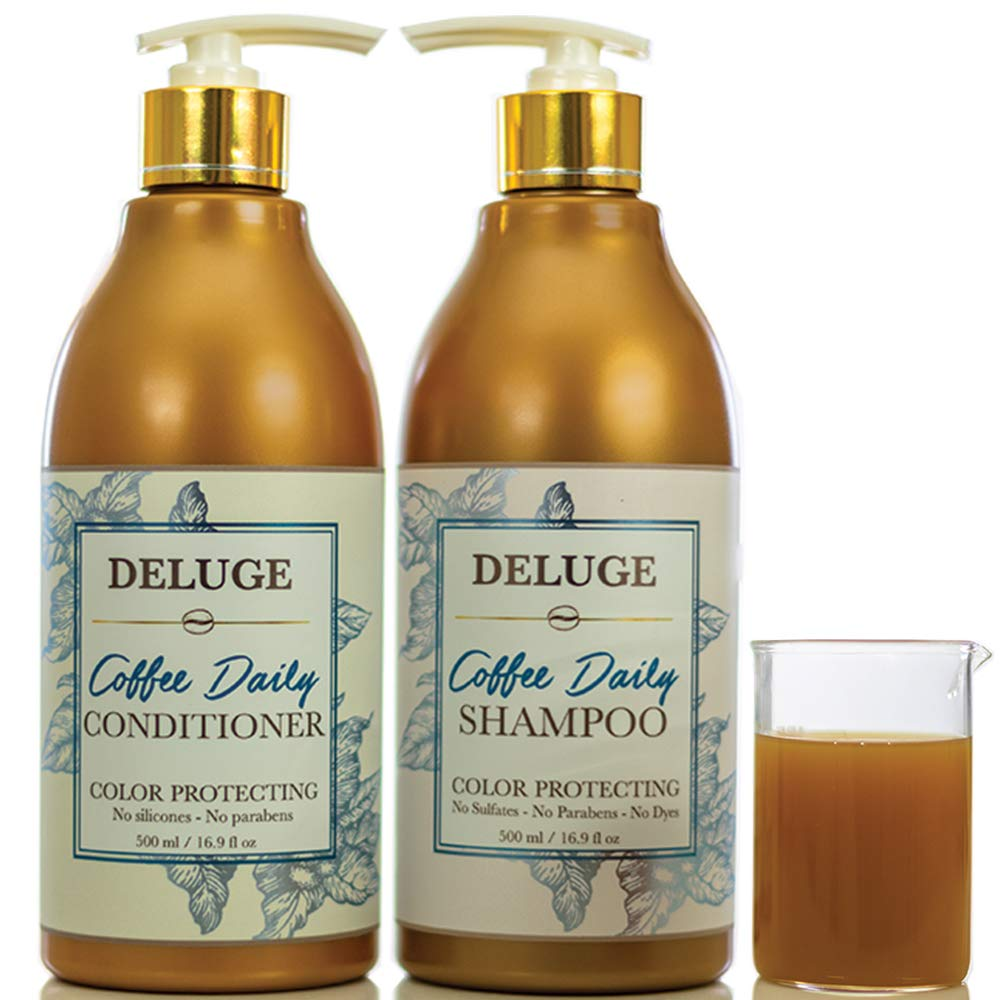 Coffee and Argan Oil Daily Moisture Shampoo and Conditioner Set. Sulfate and Paraben Free. Colored and Keratin Safe. Anti-Dandruff Hydrating Formula-Dry, Damaged, Frizzy, Curly, Fine Hair. 16 OZ Each.