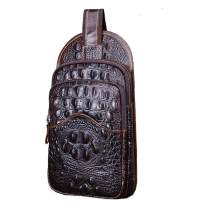 Leather Sling Bag Backpack for Men Women Crossbody Shoulder Chest Day Pack Outdoor Travel Camping Tactical Daypack