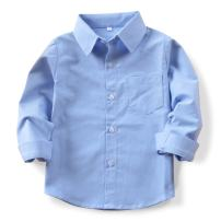 OCHENTA Little Big Boys' & Men's Long Sleeve Button Down Oxford Dress Shirt