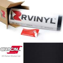 ORACAL 975 Carbon Fiber Black 070-CF Wrapping Structure Cast Film Vehicle Car Wrap Vinyl Sheet Roll - (8ft x 5ft w/App Card)