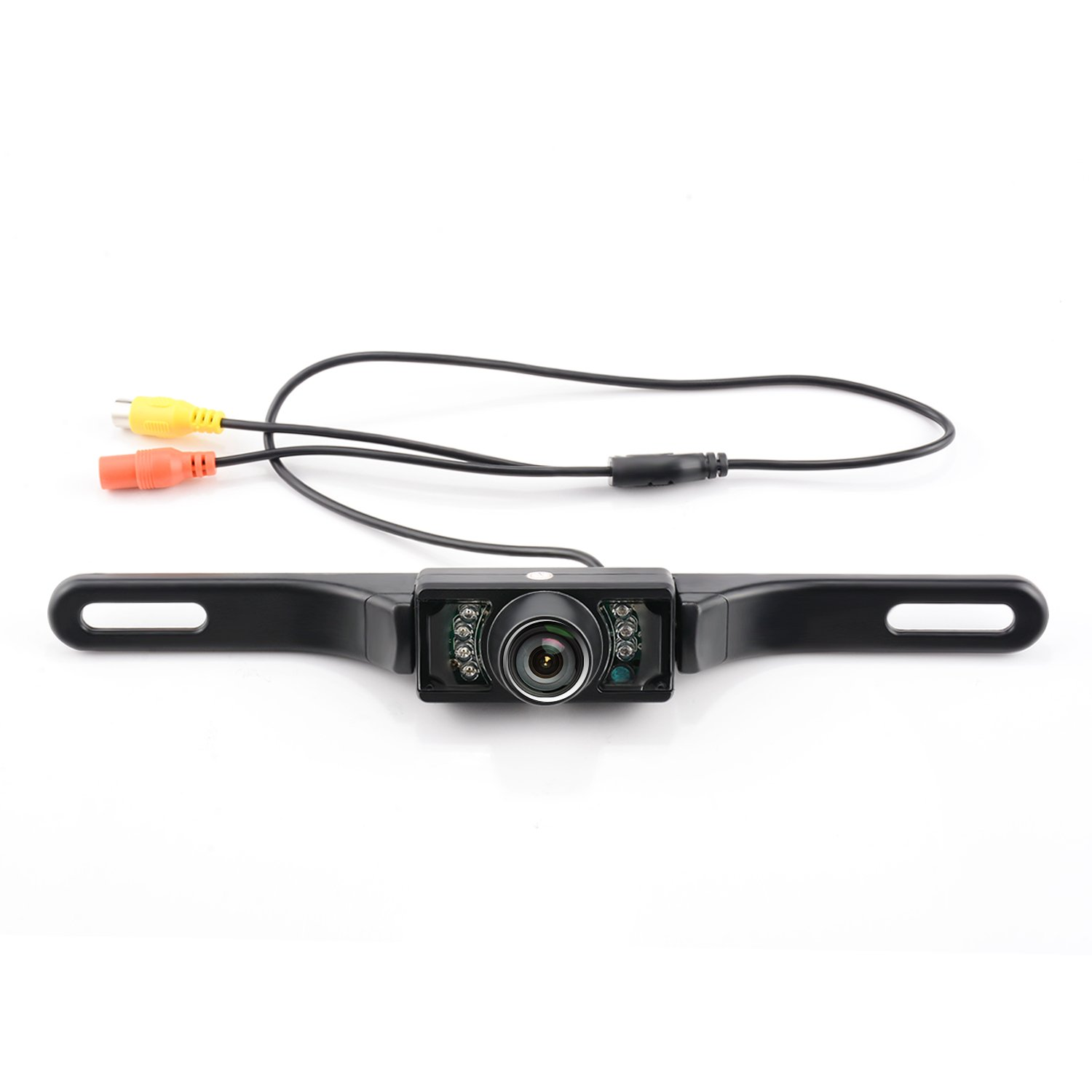 GerTong Waterproof HD Color Wide Angle Viewing License Plate Car Rear View Backup Camera with 7 Infrared Night Vision LED Lights