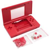 OSTENT Full Repair Parts Replacement Housing Shell Case Kit Compatible for Nintendo DS Lite NDSL Style Mario Color Red