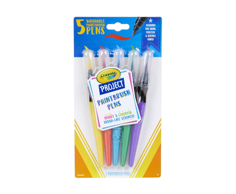 Crayola Washable No-Drip Paint Brush Pens, Paint Set for Kids, 5Count