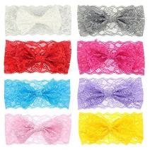 Fascigirl 8Pcs Headbands Bowknot Stylish Hair Accessories Hair Bands for Baby Girls
