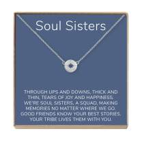 Dear Ava Soul Sisters Gift Necklace: Best Friends, BFF, Long Distance, Friends Forever