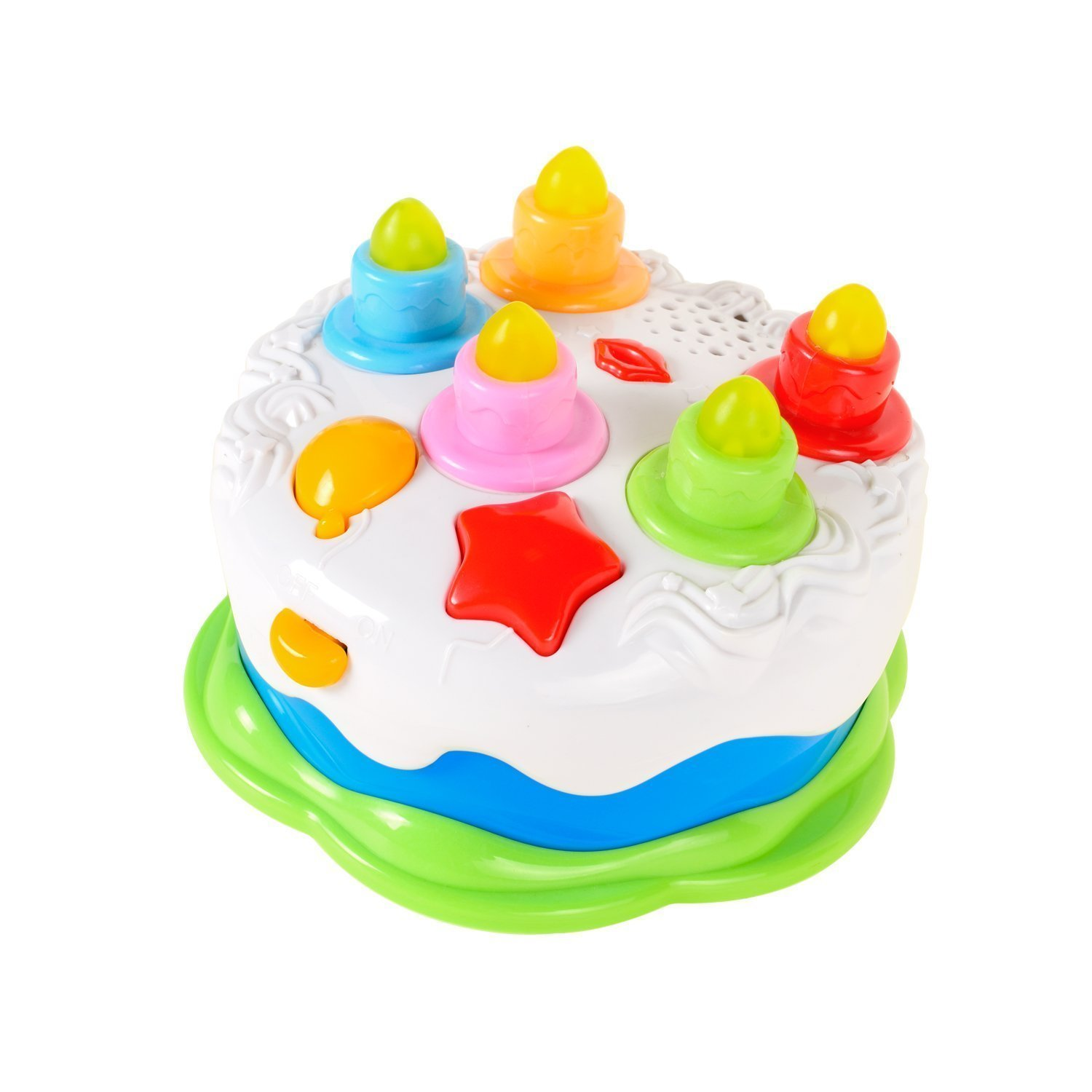Mallya Kids Birthday Cake Toy for Baby & Toddlers with Counting Candles & Music, Gift Toys for 1 2 3 4 5 Years Old Boys and Girls