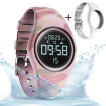 synwee Sports Fitness Tracker Watch, IP68 Waterproof, Non-Bluetooth, with Pedometer/Vibration Alarm Clock/Timer,for Kid Children Teen Boys Girls