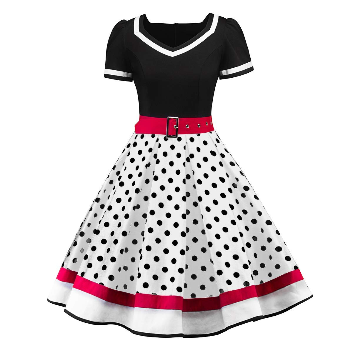 Womens 1950s Retro Rockabilly Princess Cosplay Dress Floral Halter Audrey Hepburn 50's 60's Party Costume Gown