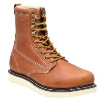 """King Rocks Work Boots Men's 8"""" Plain Toe Wedge Comfortable Boots for Work and Construction"""