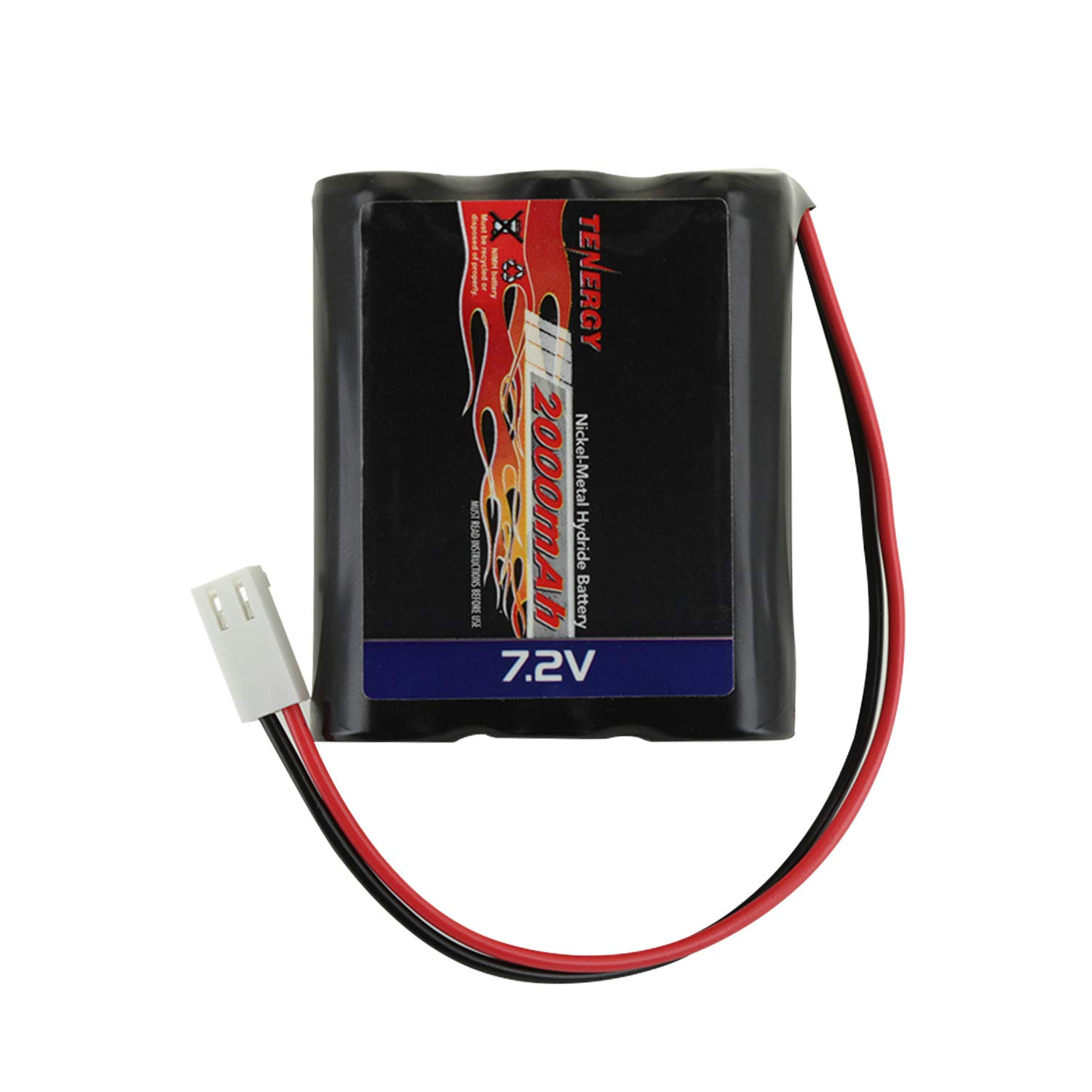 7.2V Tenergy 2000 mAH NiMH Square Rechargeable Battery Pack for Walking Robots and RC Planes