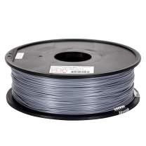 Inland 1.75mm Gray PLA PRO (PLA+) 3D Printer Filament 1KG Spool (2.2lbs), Gray