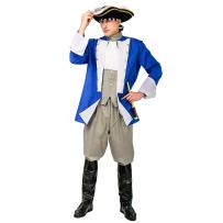 Adult Men's Colonial General Costume for Halloween Cosplay Party