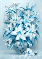 Blue Lily Vase Diamond Painting Kits - PigPigBoss 5D Full Round Drill Diamond Painting by Numbers - Diamond Embroidery Dot Kit Home Decor Art Gift (11.8 x 15.7 inches)