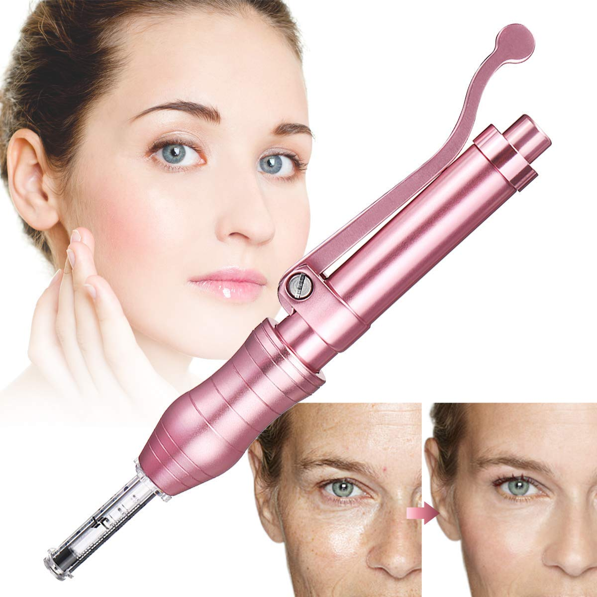 Hyaluron Injection Pen, Restore Skin Elasticity, Deep Replenishment And Rich Nourishment, Helps to Reduce Blemishes, Wrinkles and Marks (with 2 Ampoules)