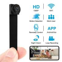Hidden Spy Camera 1080P WiFi Wireless Mini Camera Home Security Cameras Nanny Cam with DIY Interchangable Lens