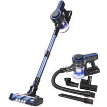APOSEN Cordless Vacuum Cleaner Upgraded Brushless Motor 5 in 1 Stick Handheld Vacuum 18KPa Powerful Suction 250W for Home Hard Floor Carpet Car Pet H251 Blue … (Blue)