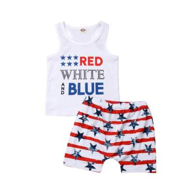 Independence Day Toddler Baby Girls Outfit Stars and Stripes T-Shirt Top+Lace Shorts Set Clothes July 4th