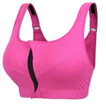 newlashua Women's High Support Push Up Zip Front Close Padded Sports Bra