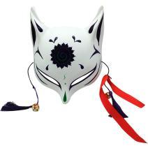 YangYong Kitsune Large Fox Mask for Cosplay, Japanese Kabuki Traditional Masks