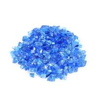 Stanbroil 10-Pound 1/2 inch Fire Glass for Fireplace Fire Pit, Cobalt Blue Reflective