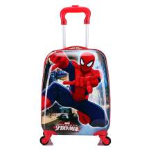 MOREFUN Frozen 18 Inch Luggage Hard Side Spinner Suitcase Carry on Luggage Rolling (red spiderman)