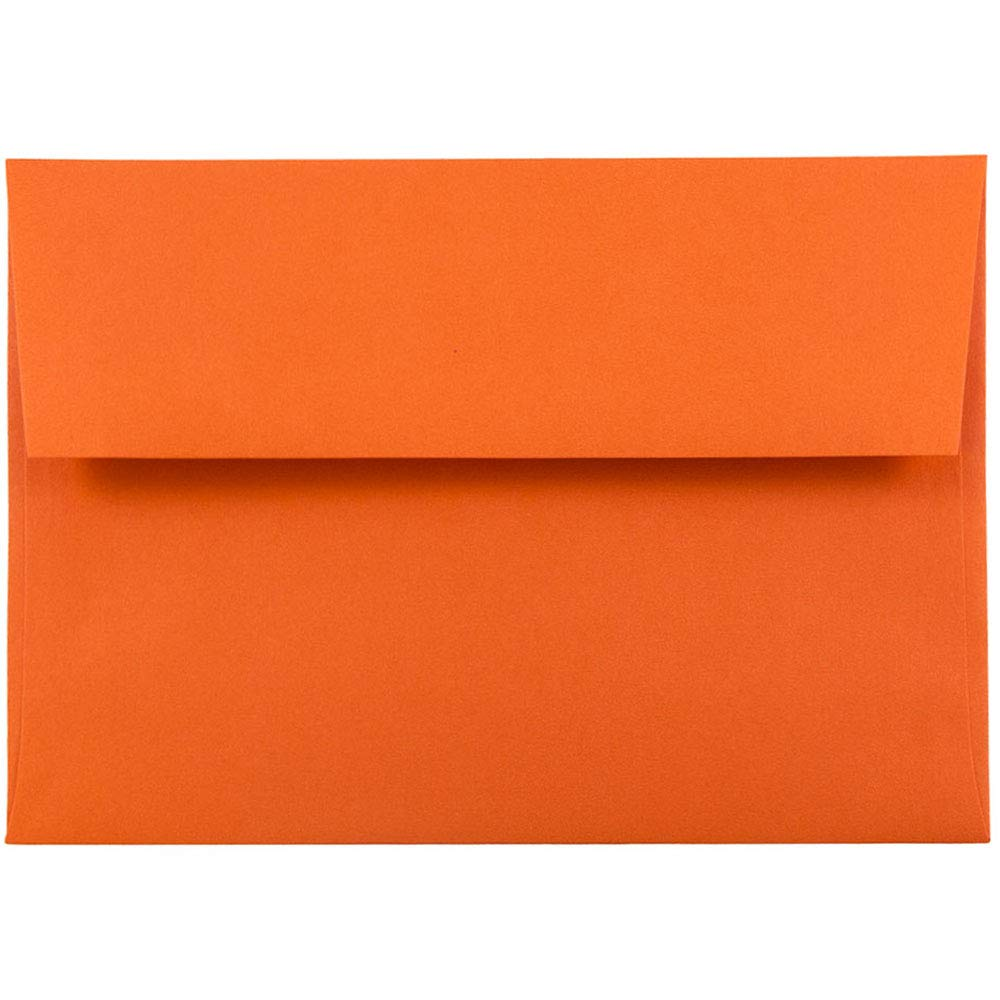 JAM PAPER A6 Colored Invitation Envelopes - 4 3/4 x 6 1/2 - Orange Recycled - 50/Pack