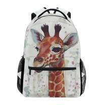 UMIRIKO Cute Giraffe Backpack for Girls Boys Elementary School Bookbag 2020121