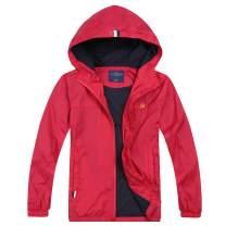 Jingle Bongala Boys Girls Lightweight Breathable Raincoat Waterproof Hooded Rain Jacket Windbreaker Easy to Fold