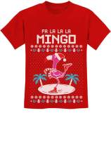 TeeStars - FA La La Flamingo Ugly Christmas Sweater Funny Youth Kids T-Shirt