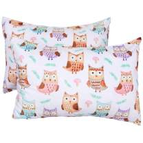 ICOSY Toddler Kids Pillowcase for Girls Pillow Cover Fits Pillows Sized 13 x 18 or 14 x 19, Envelope Style Girls Pillowcase for Sleeping Bedding Pillowslip for Kids Room