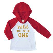 Baby Girl First Birthday Outfit Wild One Year Old Birthday Girl Hoodie