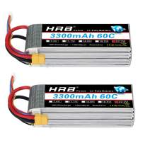 HRB 2packs 6S 22.2V 3300mAh 60C RC Rechargeable Lipo Battery with XT60 Plug for Lipo Battery for RC Quadcopter Goblin 500,Goblin 630, TREX 500, TREX 600 and Gaui Helicopter