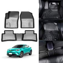KUST 3D Floor Mats for Toyota C-HR CHR 2017 2018 2019 2020 2 Row Liner Set All Weather Durable Odorless TPE Floor Carpet Liner