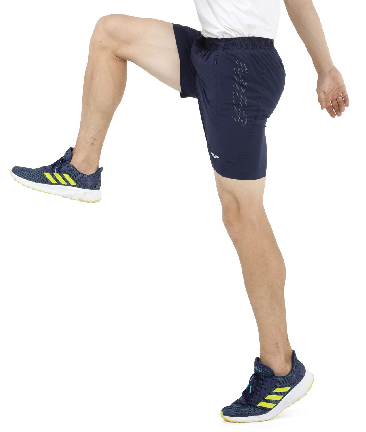 MIER Men's 5 Inches Running Athletic Shorts Quick Dry Workout Training Tennis Shorts with 4 Pockets, No Liner, Lightweight