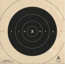DOMAGRON 50 Yard Repair Center Slow Fire Pistol Target Official NRA Target B-6(CT)