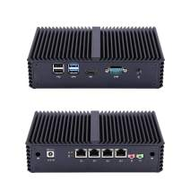 Qotom-Q330G4 Industrial Fanless Mini PC with 4 Ethernet LAN AES-NI Intel Core i3 4005U Computer (2G RAM + 16G SSD)
