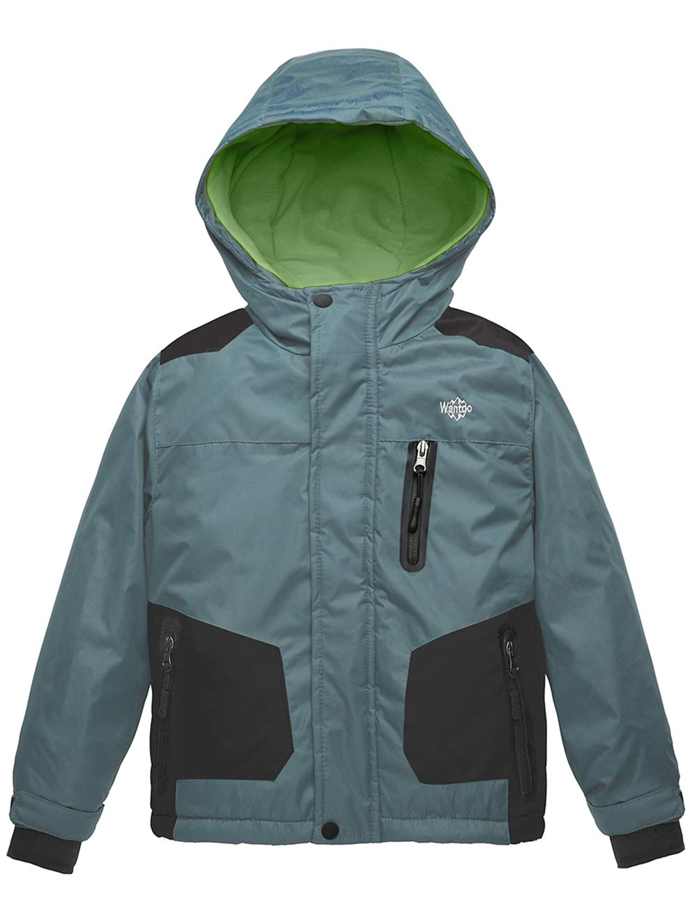 Wantdo Boy's Waterproof Ski Jacket Windproof Padded Snow Winter Coat