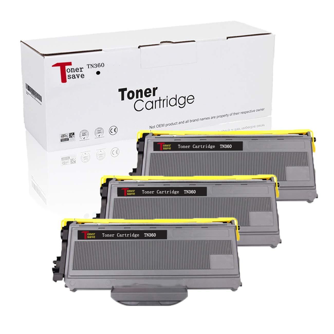 Tonersave Compatible TN-360 TN360 Toner Cartridge for Brother HL-2140 HL-2170 HL-2170W MFC-7840W MFC-7440N DCP-7030 MFC-7345N MFC-7345DN Ricoh Aficio SP 1210 Series Laser Printer Black 3-Pack