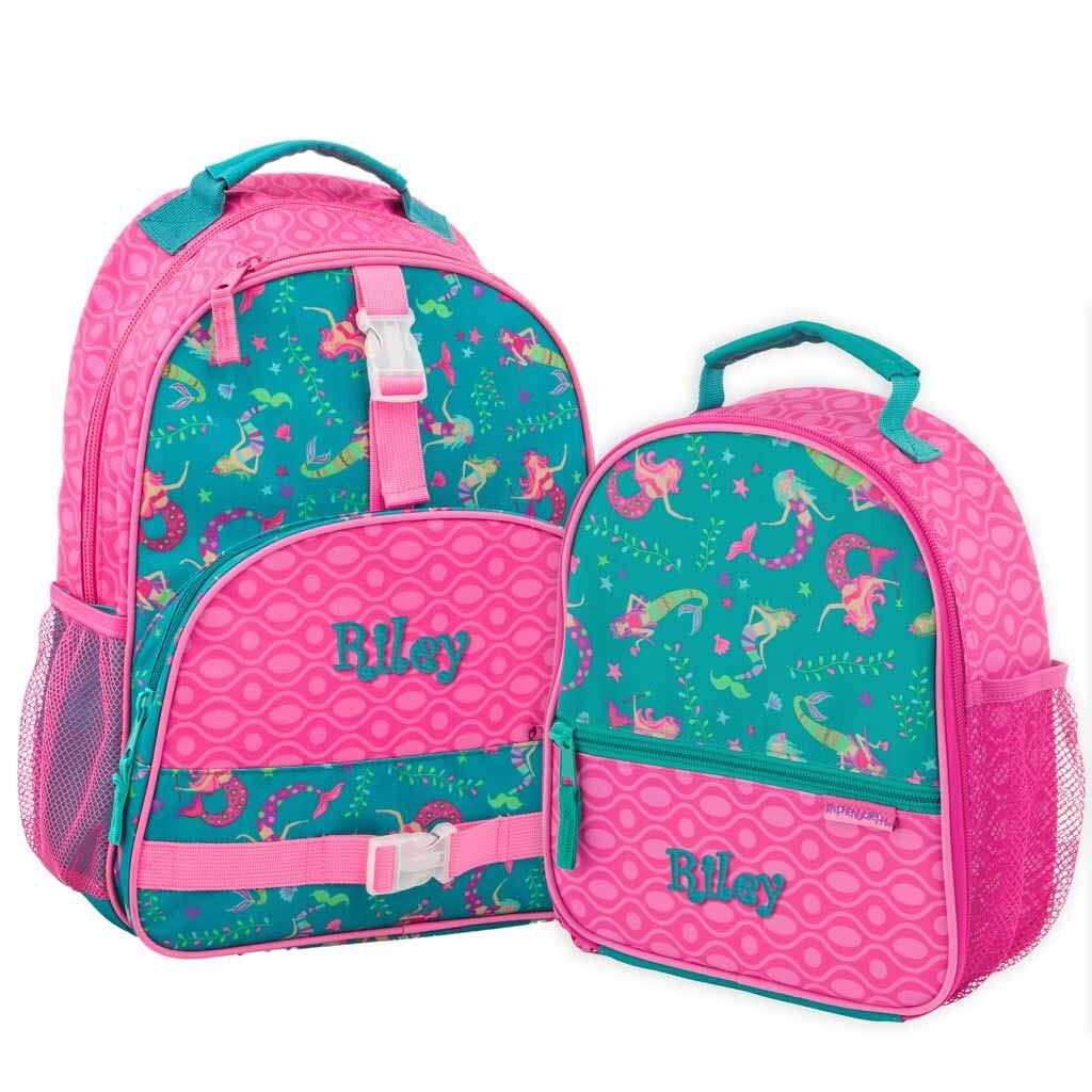 Personalized Trendsetter Backpack (Mermaid Backpack and Lunch Box Combo)