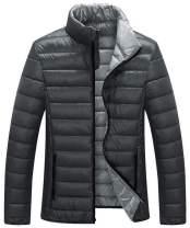 ZSHOW Men's Lightweight Down Jacket Packable Stand Collar Down Coat Outerwear