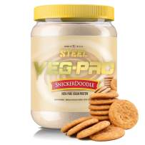 Steel Supplements Veg-PRO Vegetable Pea Protein Isolate Powder Supplement Natural Organic Vegan 1.5 Pounds (Snickerdoodle)