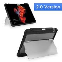"""Maxjoy Compatible for iPad Pro 11 Cover, iPad Pro 11 Case, [Support Pencil Charging], Shockproof Rugged iPad 11 Protective Cover with Kickstand Stand + Apple Pencil Holder for iPad Pro 11"""" 2018, Black"""