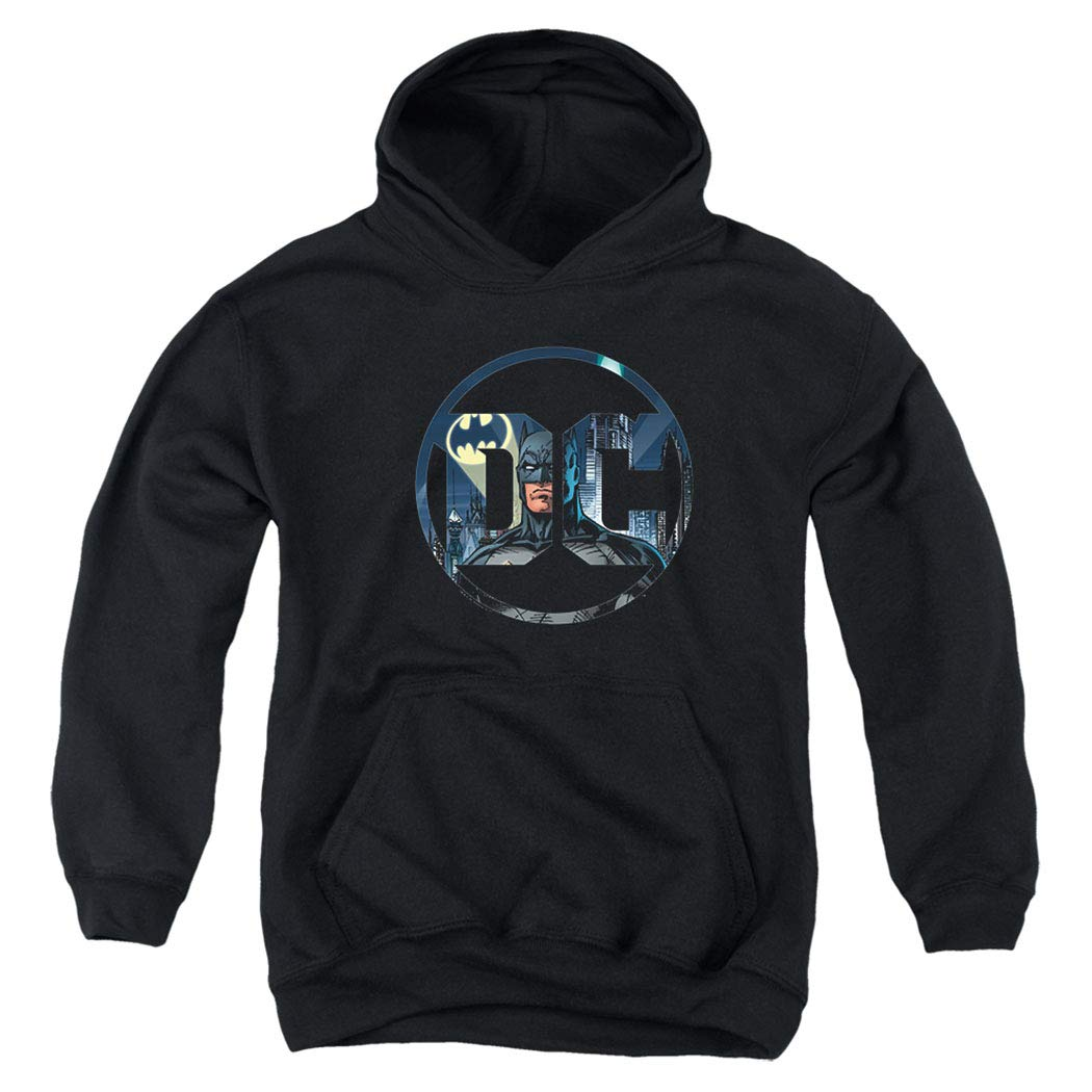 DC Comics Logo Kids Youth Pullover Hoodie & Stickers