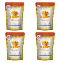 FZYEZY Freeze Dried Mango Fruit for Kids and Adults | Camping Vegan snacks dried Fruit | Survival food | freeze-dried fruits slices| Pantry groceries dehydrated snacks|Pack of 4 -1.76 oz each | 200gm