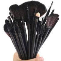 32pcs Professional Makeup Brushes Set, BBL Premium Cosmetic Tools applicator Natural Synthetic Bristles for Foundation Blending Powder Blush Eye Shadow Smudge Concealer Contour with Case (Black)