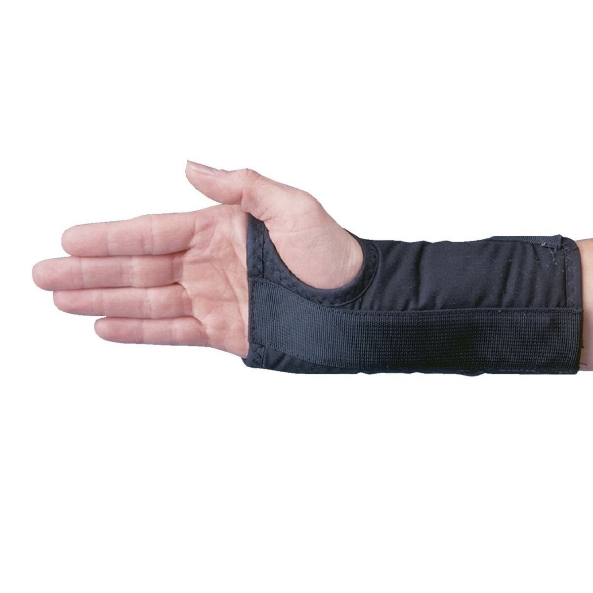 "Rolyan D-Ring Right Wrist Brace, Size Large Fits Wrists 7.75""-8.5"", 7.5"" Regular Length Support"