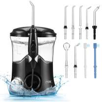 Water Flosser Dental for Teeth Clean, 10 Water Pressure 600ml Large Capacity Leak-Proof Electric Quiet Design with 9 Multifunctional Tips Countertop Dental Oral Irrigator for Home & Travel