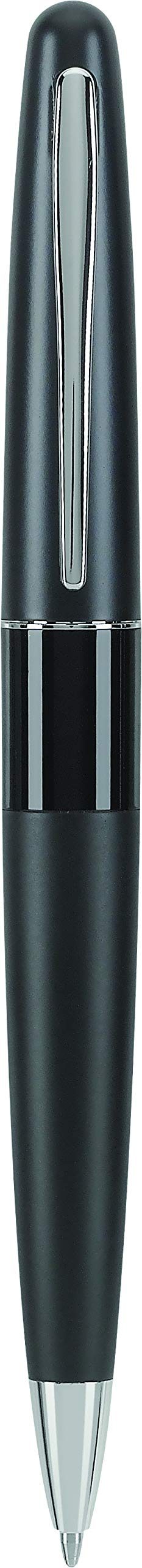 PILOT Metropolitan Collection Ball Point Pen, Black Barrel, Classic Design, Medium Point, Black Ink (91307)