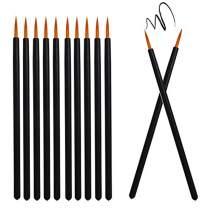 Deksias Disposable 100Pcs Eyeliners Brushes Applicator Tip Protection Cosmetic Eye Liner Wands Makeup Tools Kits (Gold)